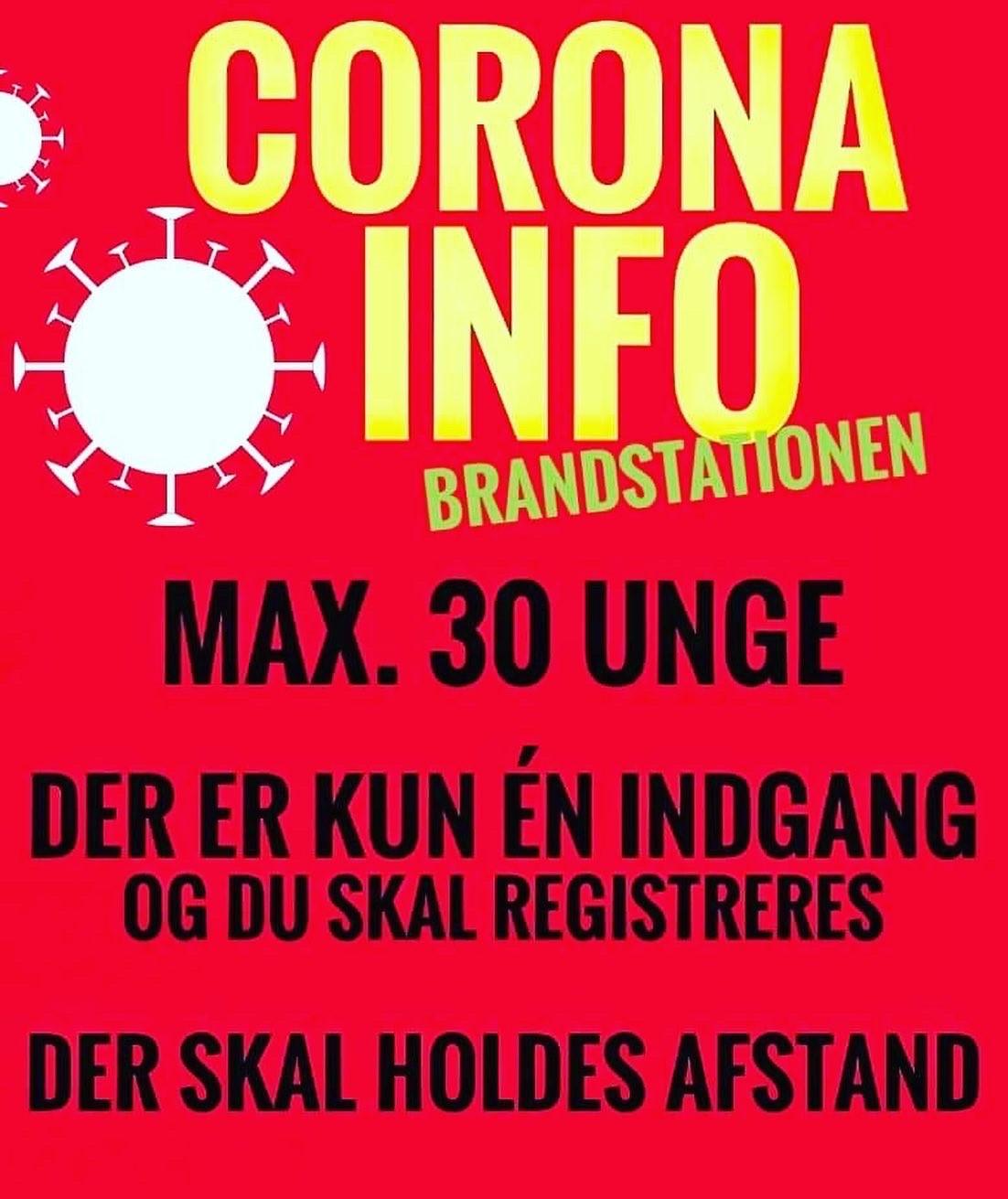 Coronainfo Brandstationen