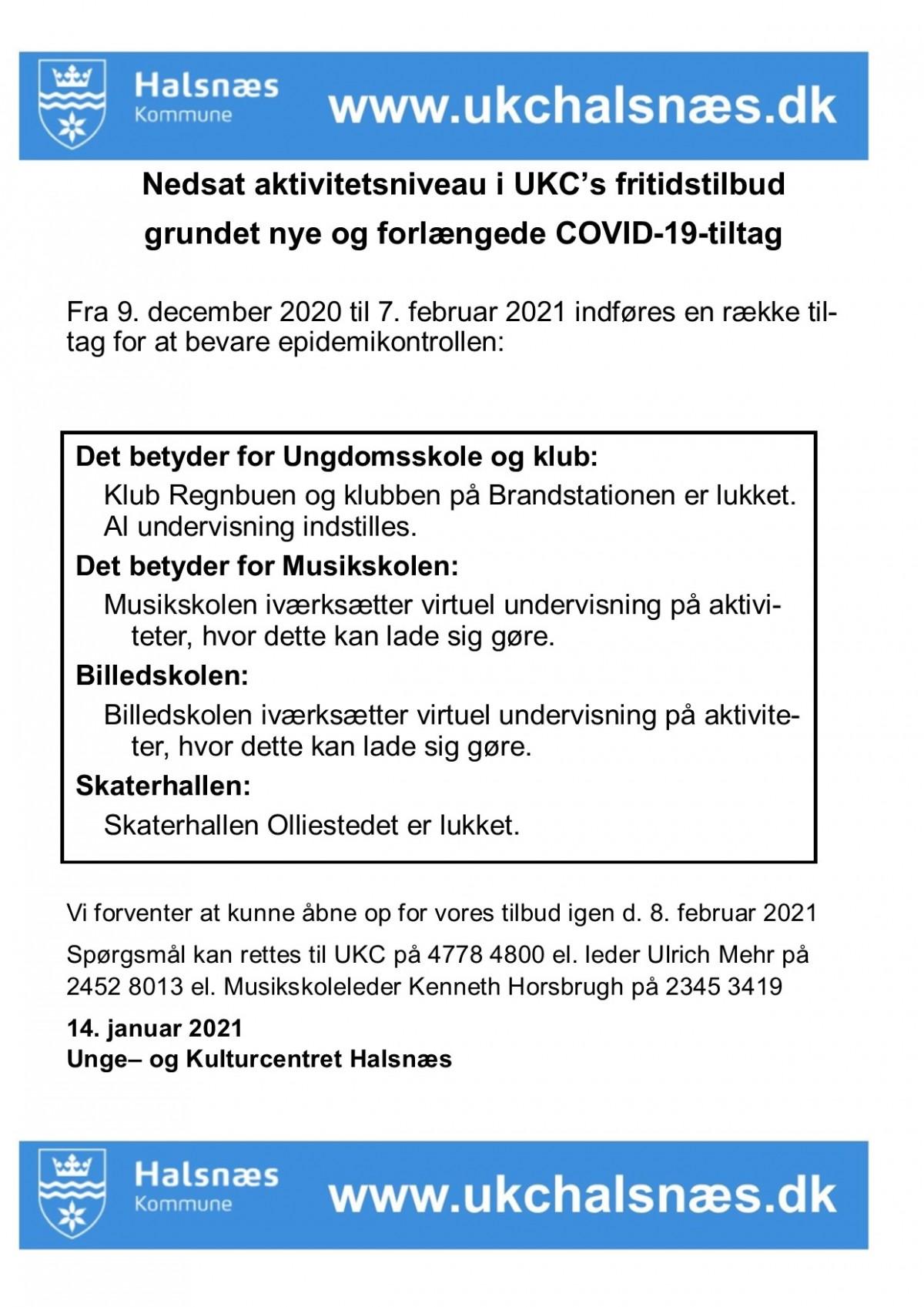 Nedlukning corona januar 2021